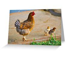 Mama & Baby Chicks Greeting Card