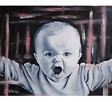Cute Angry Baby Photographic Print