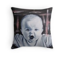 Cute Angry Baby Throw Pillow