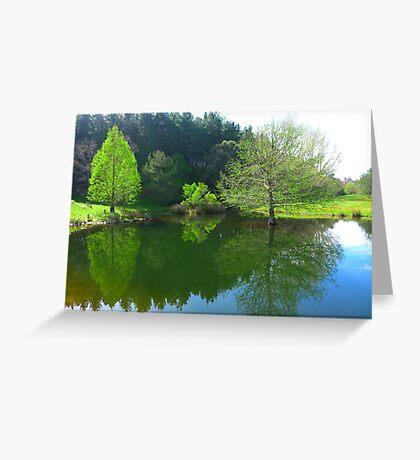 The Duck Pond - Robert Mann Greeting Card