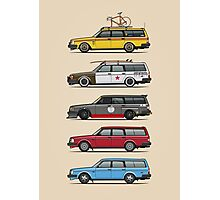 Stack of Volvo 200 Series 245 Wagons Photographic Print