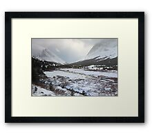 Elbow Pass valley VI Framed Print