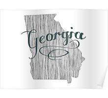 Georgia State Typography Poster