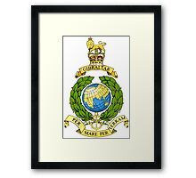 Royal Marines Emblem Framed Print