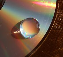 Water Drop on CD by JoelCollins