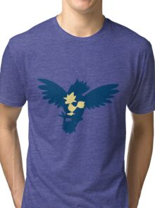 PKMN Silhouette - Murkrow Family Tri-blend T-Shirt