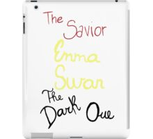 Two sides of Emma Swan iPad Case/Skin