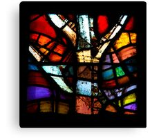 Stained Glass in Coventry Cathedral Canvas Print