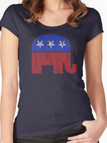 Republican Party Elephant Vintage Women's Fitted Scoop T-Shirt