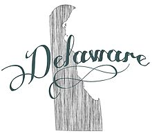 Delaware State Typography by surgedesigns
