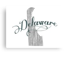 Delaware State Typography Canvas Print