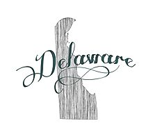 Delaware State Typography Photographic Print