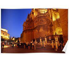 Seville at night Poster