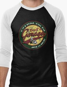 dad's garage  Men's Baseball ¾ T-Shirt