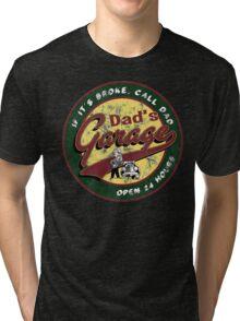 dad's garage  Tri-blend T-Shirt