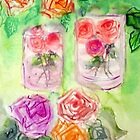 Roses in a glas by Heidi Mooney-Hill