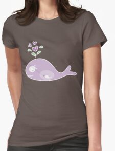 Whimsical Purple Pregnant Whale T-shirt T-Shirt