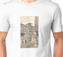 watercolor wash street Unisex T-Shirt