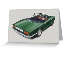 Triumph Spitfire Racing Green Greeting Card
