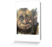 A dwarf,still in progress Greeting Card