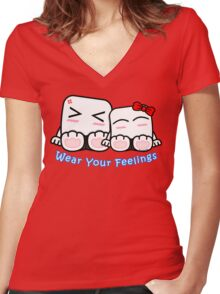 Wear Your Feelings! Women's Fitted V-Neck T-Shirt