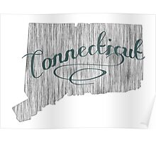 Connecticut State Typography Poster