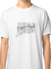 Connecticut State Typography Classic T-Shirt