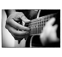 Guitare portrait Photographic Print