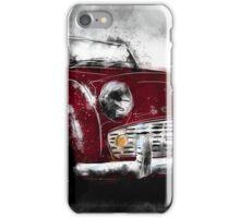 Triumph TR3 red iPhone Case/Skin