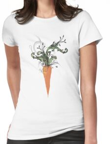 floral carrot Womens Fitted T-Shirt