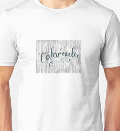 Colorado State Typography Unisex T-Shirt