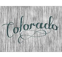 Colorado State Typography by surgedesigns