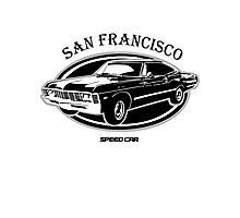 San Francisco High Speed Car Photographic Print
