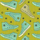 Doodle Ked Shoes by Anastasiia Kucherenko