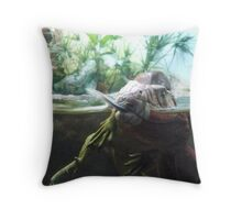Reptiles Fighting Throw Pillow
