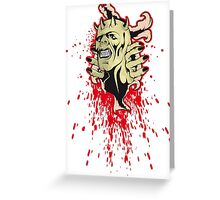 zombie undead zombie eyes Greeting Card