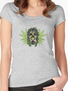 weed canabis marijuana Women's Fitted Scoop T-Shirt