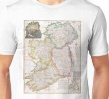 Vintage Map of Ireland (1794) Unisex T-Shirt