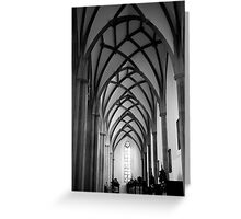 St. Ulrich's and St. Afra's Abbey - Late Gothic Greeting Card