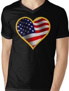 USA Mens V-Neck T-Shirt