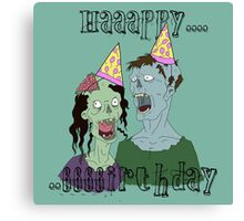 Zombie Party of two Canvas Print