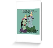 Zombie Party of two Greeting Card