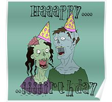 Zombie Party of two Poster