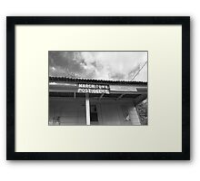 March Town Post Office Framed Print