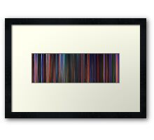 Moviebarcode: Hercules (1997) Framed Print