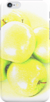 Green Apple iPhone Case by Lisa Knechtel