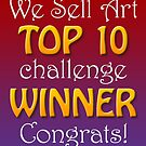 We Sell Art: Top 10 Banner 1 by Shani Sohn