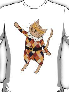 Dancing Harlequin Kitty T-Shirt