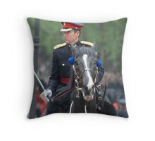 Saddled swordsman Throw Pillow