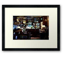 Dutch Bistro Bar Framed Print
